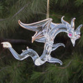 Hand Blown Glass Dragon Crystal Christmas Ornament