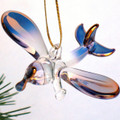 Hand Blown Glass Airplane Christmas Ornament