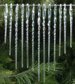 Hand Blown Glass Icicle Christmas Ornaments