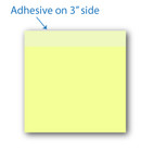 "3"" X 3""Post-it Notes Canary Yellow with Black Ink 8 Pads of 50 Sheets"