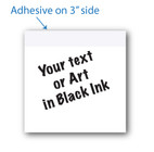 "3"" X 3""Post-it Notes White with Black Ink 8 Pads of 50 Sheets"