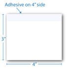 "4"" X 3""Post-it Notes White with Black Ink 8 Pads of 50 Sheets"