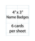 "Name Badge Cards - 4"" X 3"" 