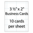 "Business Cards    3-1/2"" x 2"" 10-up"