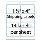 Address Labels 1-1/3 x 4"