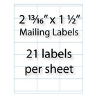 "Mailing Labels 2-13/16"" x 1-1/2"" 