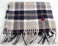 80s casuals eighties Brecon Mens 100% lambswool scarf Hunter Present