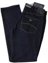 Armani AJ Jeans Mens Designer J45 Regular Fit Dark Blue Denim Zip Fly 34 leg V6J45 4H