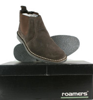 Roamers Real Suede Leather Mens ankle Desert Chelsea Slip on Boots Shoes Brown