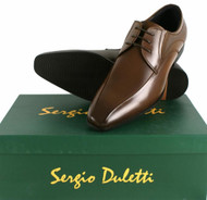 Sergio Duletti Gian Mens Real Leather Dress Mod Pointed Shoes L231-112 Brown