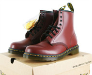 UK3 - UK15 Dr Martens 1460 Leather Classic Airwair 8 Eyelet Men Boots Cherry Red