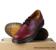 Dr Martens 1461z Leather 3 eyelet Shoe  Cherry Red