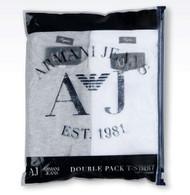 Armani AJ Jeans Mens Cotton Regular Fit 06851 Twin pack T Shirt 2 colours