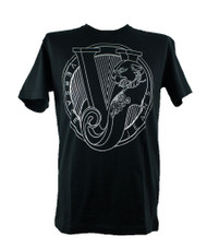 Versace Jeans VJ Logo Tiger Print Black Crew Neck T-Shirt Regular Fit Mens