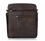 Lacuzzo 100% Real Leather Shoulder Messenger Man Bag 24cm x 27cm LMB-1 Chocolate Brown Composition: 100% leather