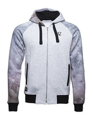 Chptr & Vrse Hoodie Angels of the night Full zip through cotton