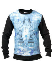 Chprt & Vrse God is a DJ Crew Neck Cotton mens Sweatshirt