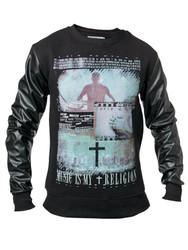 Chptr & Vrse Music is my Religion Crew Neck Sweat.