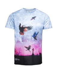 Chptr & Vrse T -shirt Crow Graveyard Mens geordie clubbing