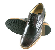 Roamers Hi Shine Oxblood Real Leather 5 Eyelet Wing capped Gibson Brogue Mens Shoes