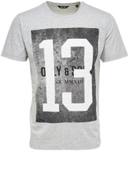 Only & Sons T-Shirt O Dubs Graphic Number 13 print in cotton Grey
