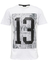 Only & Sons T-Shirt O Dubs Graphic Number 13 T-Shirt print in cotton White