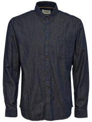 Only & Sons Shirt Tico Dark Grey Denim Mens Smart Dress Casual Shirt