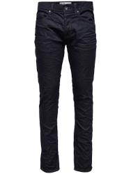 Only & Sons Weft Regular Fit Denims In Dark Blue with slight crush detailing