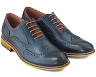 Sergio Duletti Blue Leather Luciano Shoes
