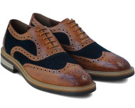 Sergio Duletti Brown Gatsby Blue Leather Shoes