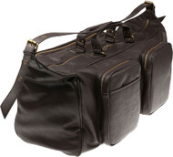 Armani AJ Jeans Large Travel Weekend Duffel Real Leather B6253 s8 Q7 Brown