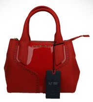 Armani AJ Jeans Borsa Donna Womans small leather Designer handbag B5204 U6 in Red