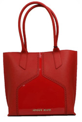 Armani AJ Jeans B5202.U6.54 Ladies Shoulder Hand Bag patent Brogue Rosso Red