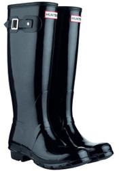 Hunter Original womans tall Gloss Black Wellington Welly Boots