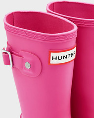 Hunter Original Kids Girls Lipstick Lip Wellington Welly boots in Pink