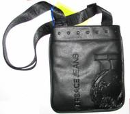 Versace Jeans Linea Studs Biker Black Mens Messenger Man Bag E1YUMBB22