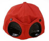 CP Company Garment Dyed Goggle Millie Miglia Mens Boys Casuals Cap Orange