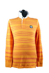 Stone Island Long sleeved polo Orange Red stripes 601523435 v0032