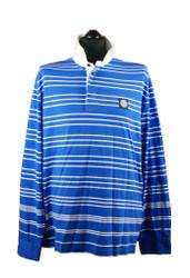 Stone Island Long sleeved polo Royal Blue white stripes 601523436 v0022