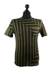 Stone Island Short sleeved T shirt in Khaki 30th anni print 601522574 v0154