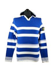 Stone Island Cotton Royal Blue Striped Hooded cotton jumper 601553D4 V0022