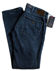 Armani AJ Jeans J45 Regular Fit Dark Wash Denim Blue Zip Fly 34 leg V6J45 6m
