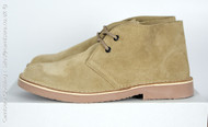 Roamers Suede Leather Round Toe Desert Boots in Camel