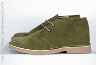 Roamers Suede Leather Round Toe Desert Boots in Khaki