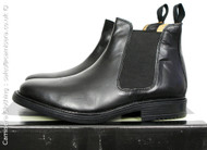 Roamers Chelsea Boots Looped Gusset Boot in Black Leather