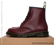 Dr Martens 1460z Unisex Classic Airwair 8 Eyelet Boots Cherry Red