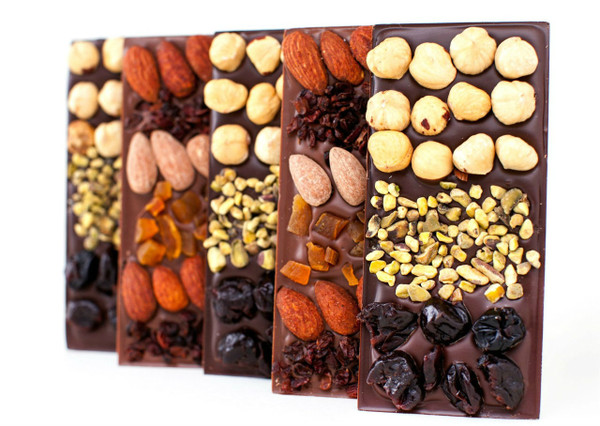 15% OFF 4 Chocolate Mendiant Bars