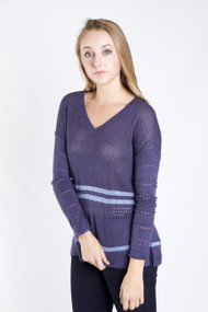 Gentle Fawn Oxford Sweater in Blue Indigo