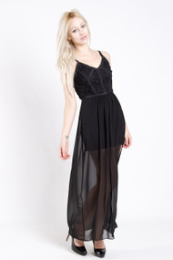 Gentle Fawn Diamond Dress in Black