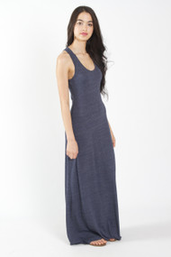 Alternative Apparel Racerback Maxi Dress in True Navy